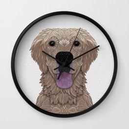 Golden Labrador Retriever Portrait Wall Clock