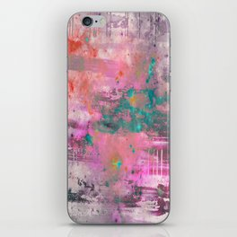 Mystical! - Abstract, pink, purple, red, blue, black and white painting iPhone Skin
