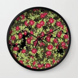 Rose Bush In Bloom Wall Clock