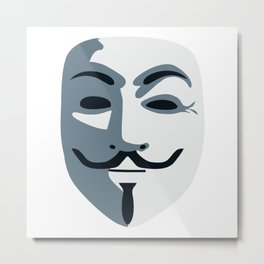 Anonymous Mask #society6 #decor #buyart #artprint Metal Print
