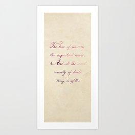 the love of Art Print
