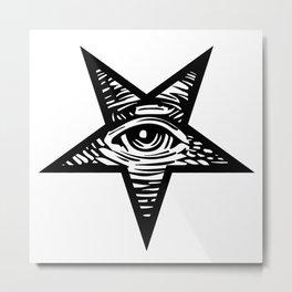 PENTEYE_WHITE Metal Print