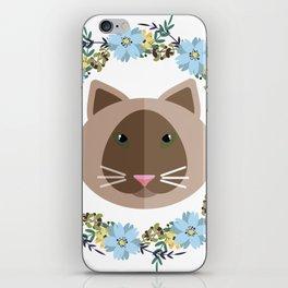 Cat&Flowers iPhone Skin