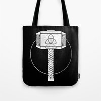 thor Tote Bags featuring THOR! by John Medbury (LAZY J Studios)