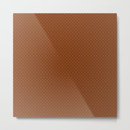 Brown Scales Pattern Metal Print