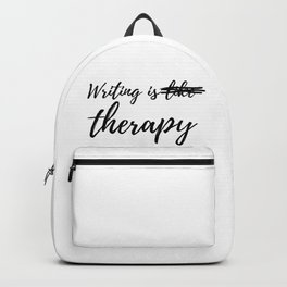 Writing is (like) therapy Backpack