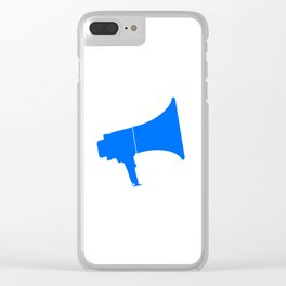 Blue Isolated Megaphone Clear iPhone Case