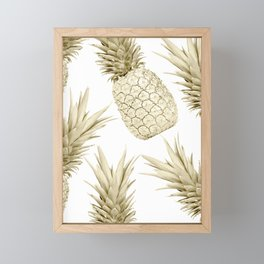 Gold Pineapple Party Framed Mini Art Print