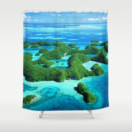 Palau Island Paradise Shower Curtain