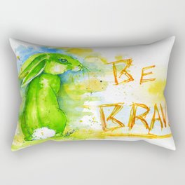 Be Brave In Color Rectangular Pillow