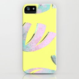 flora pattern no.1 / bright yellow iPhone Case
