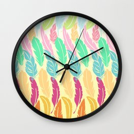 Lovely Feathers Wall Clock