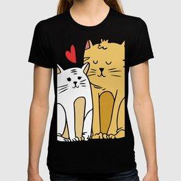 Cartoon Cat Family T-shirt