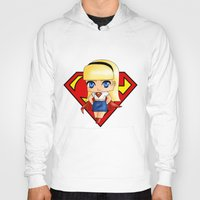 supergirl Hoodies featuring Chibi Supergirl by artwaste