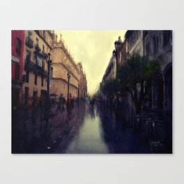 Rainy Afternoon in Seville Canvas Print