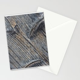 Diagonal wooden patterns - art decor Stationery Cards