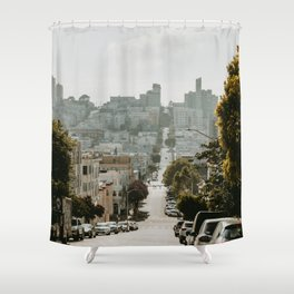 Uphill Street in San Francisco Shower Curtain