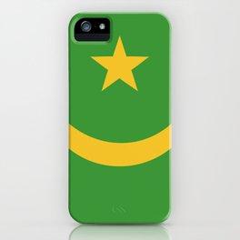 Mauritania flag emblem iPhone Case