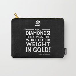 Real Diamonds! Carry-All Pouch