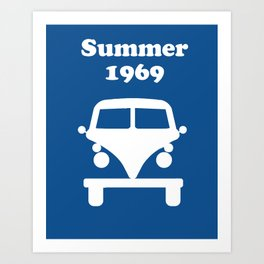 Summer 1969 - blue Art Print