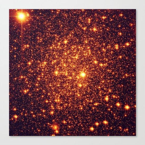 Copper Bronze Glitter Stars Canvas Print