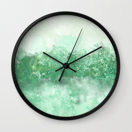 Choppy Turquoise Ocean Water Wall Clock