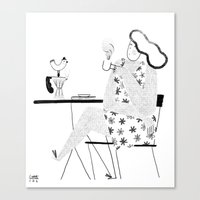 good morning Canvas Prints featuring Good Morning by littleteashi