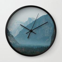 Yosemite Valley Tunnel View Wall Clock