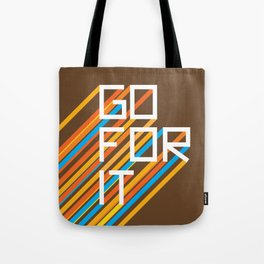 70s Go For It Tote Bag