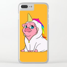 Uni-Pig Clear iPhone Case