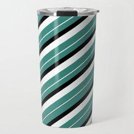 TEAM COLORS 1...teal,black AND white Travel Mug