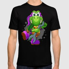 Teenage Mutant Ninja Koopa - Doni MEDIUM Black Mens Fitted Tee