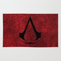 assassins creed Area & Throw Rugs featuring Creed Assassins Brotherhood by aleha