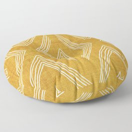 Birch in Gold Floor Pillow