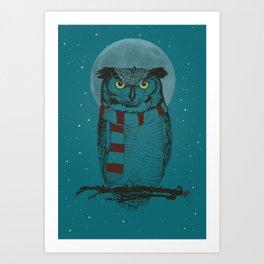 Winter Owl II Art Print