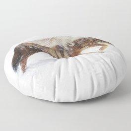Arctic Wolf Floor Pillow