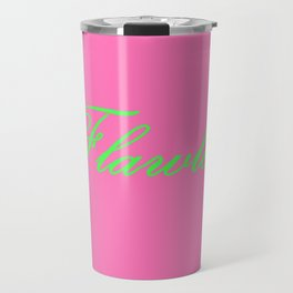 Flawless Pink & Green Travel Mug