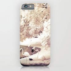 Infrared Trees Nature Landscape With Flamingos iPhone 6s Slim Case