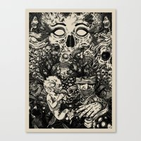 nightmare Canvas Prints featuring Nightmare by Infested Art