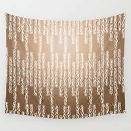 Eye of the Magpie tribal style pattern - gold Wall Tapestry