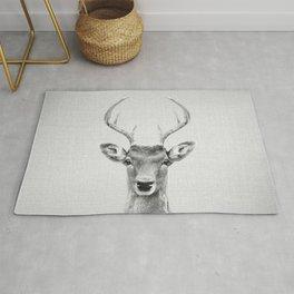 Deer 2 - Black & White Rug