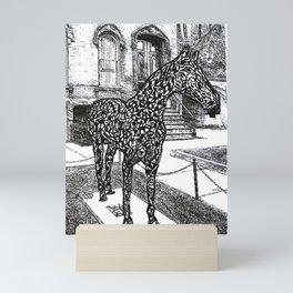 """Saratoga  Paint"" Saratoga Springs Horse Racetrack, EQUESTRIAN, thoroughbred horses Mini Art Print"