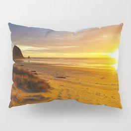 Cannon Beach Oregon at Sunset Haystack Rock Pillow Sham