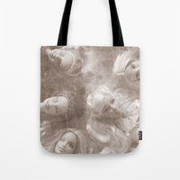 barbie Tote Bags featuring Barbie by Christine Hall