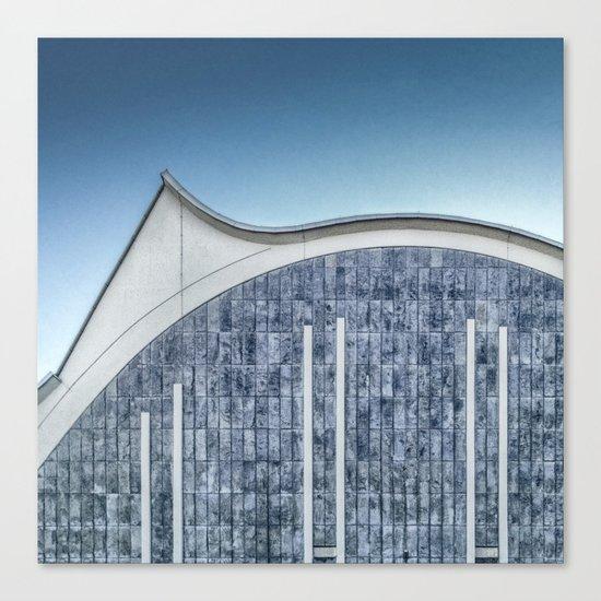 Architecture blue Canvas Print