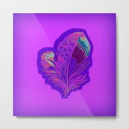 Lee's Purple Feather Metal Print