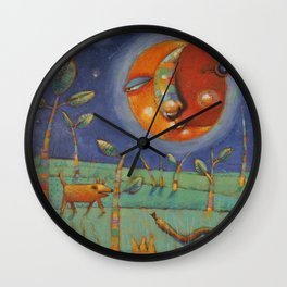 Thundersongs Of The Brilliant Beasts (Moon) Wall Clock