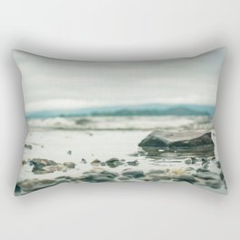 Pebbles in the Lake Rectangular Pillow