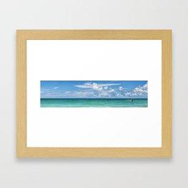 Ocean Panoramic Framed Art Print