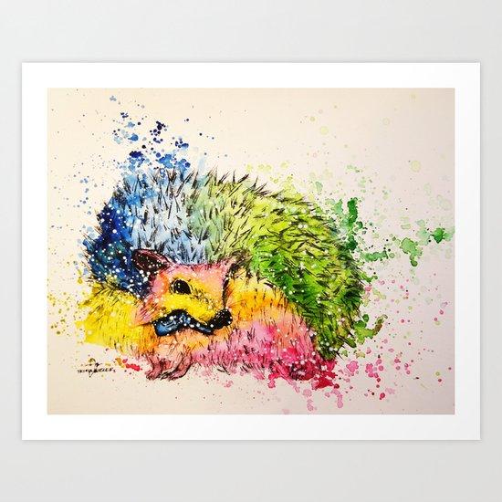 I'm Hedgehog handsome Art Print